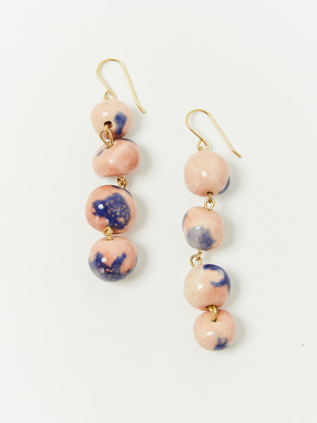 Pearls Hook Tie Dye Earrings by Levens