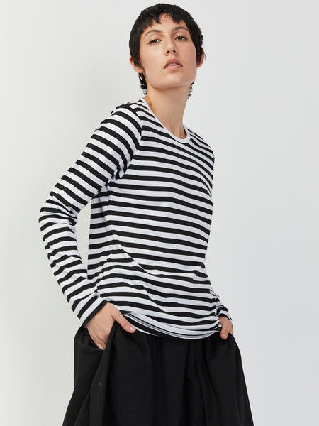 Mari Long Sleeve Tee - Black/White by Marimekko