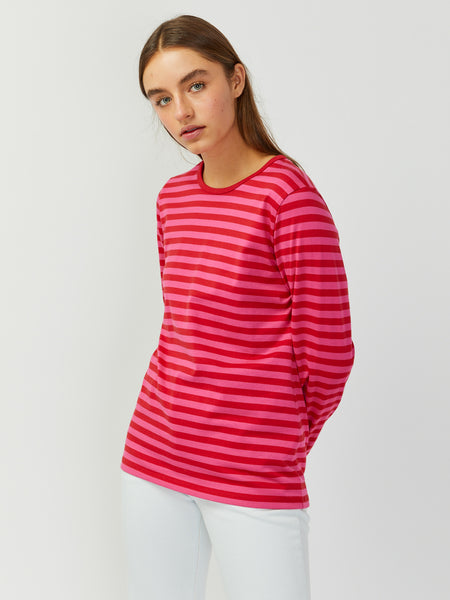 Mari Long Sleeve Tee - Red/Pink by Marimekko