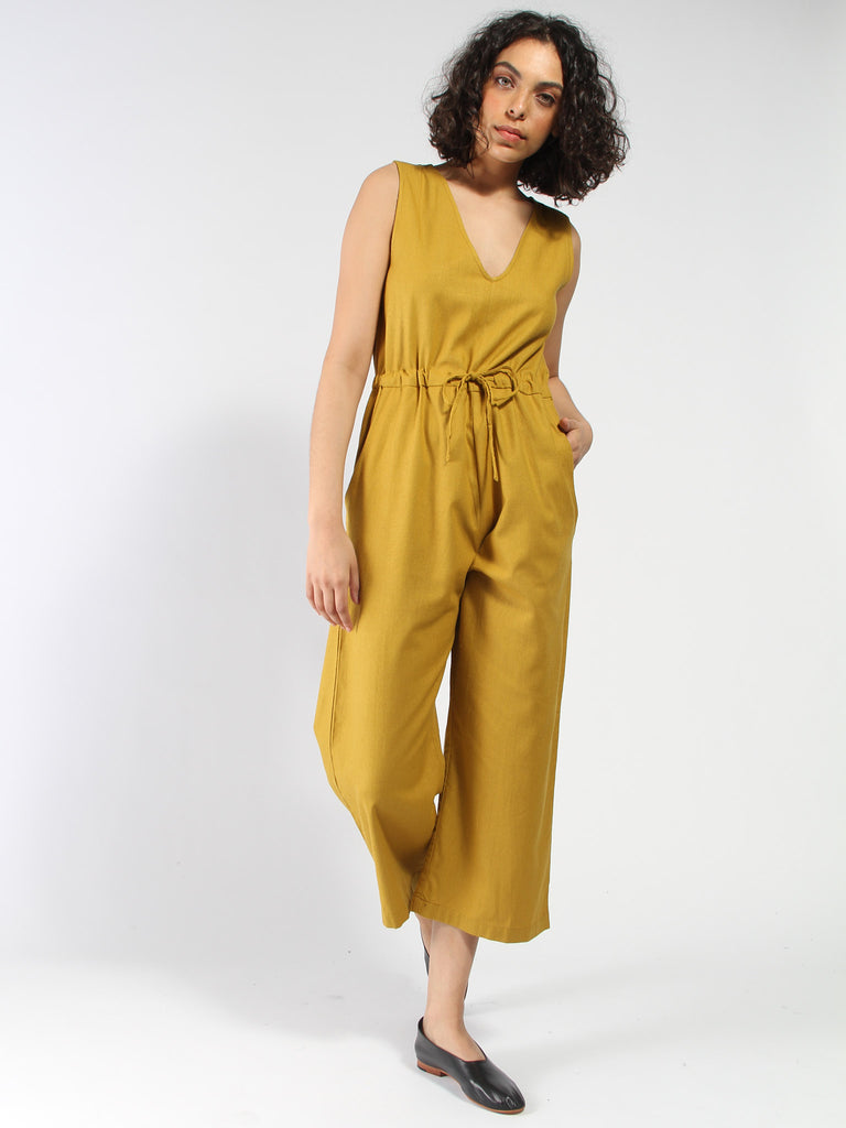 Silk Slit Back Jumper - Sunflower by Ali Golden