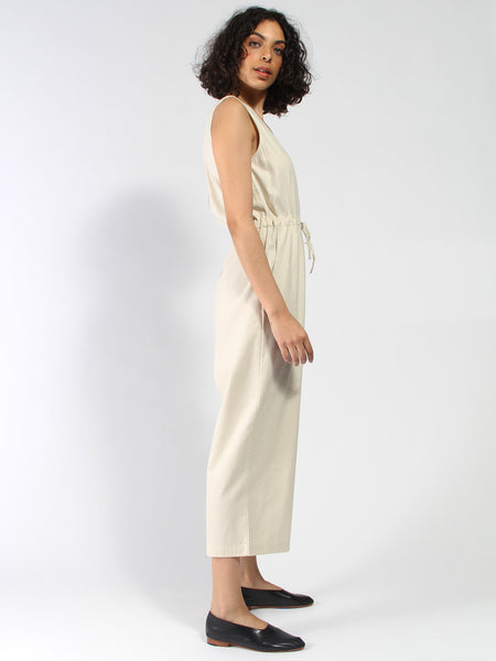 Silk Slit Back Jumper - Cream by Ali Golden