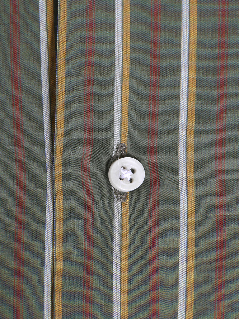 Short Sleeve Camp Shirt - Olive Stripe by Gitman Vintage