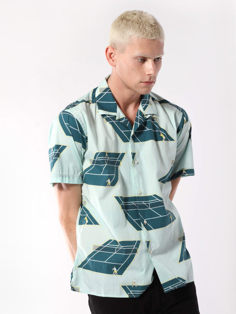 Short Sleeve Camp Shirt - Singles Print by Gitman Vintage