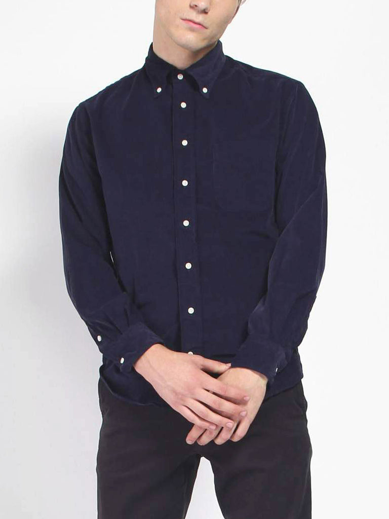 Corduroy Shirt - Navy by Gitman Vintage