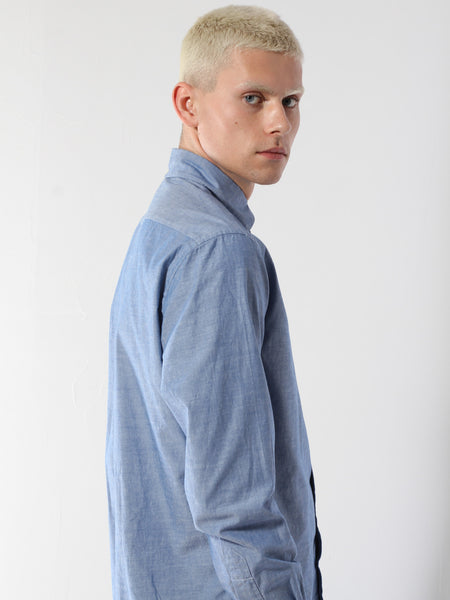 Long Sleeve Buttondown - True Blue Chambray by Gitman Vintage