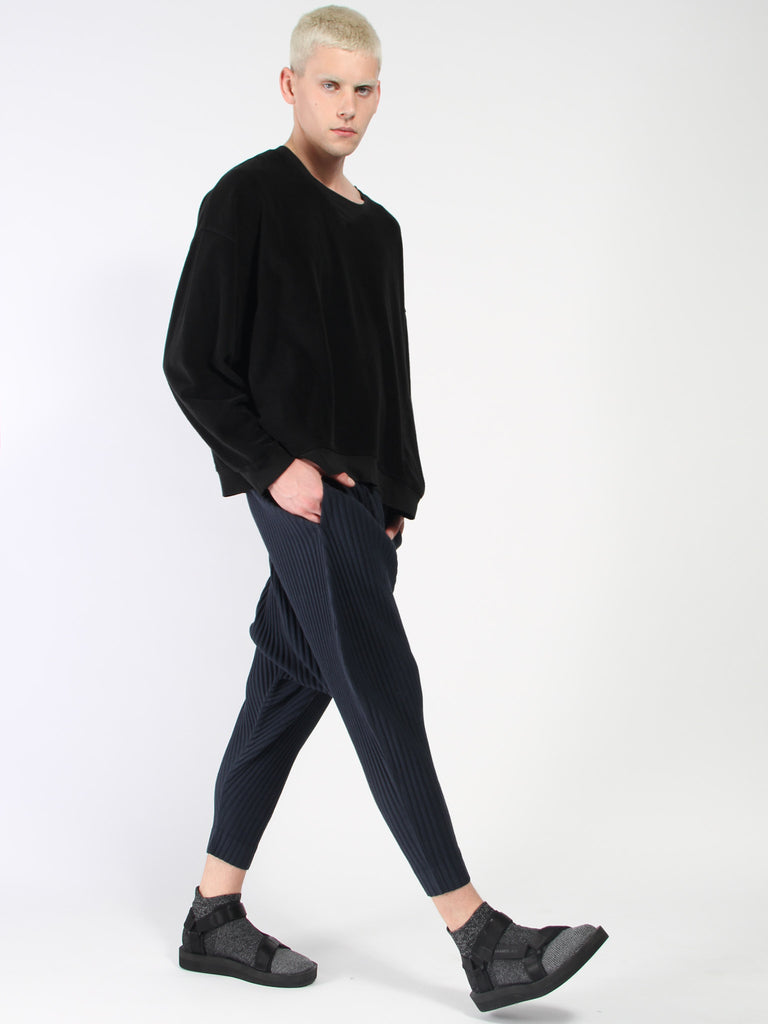 Dropped Crotch Pant - Navy by Issey Miyake Homme Plisse