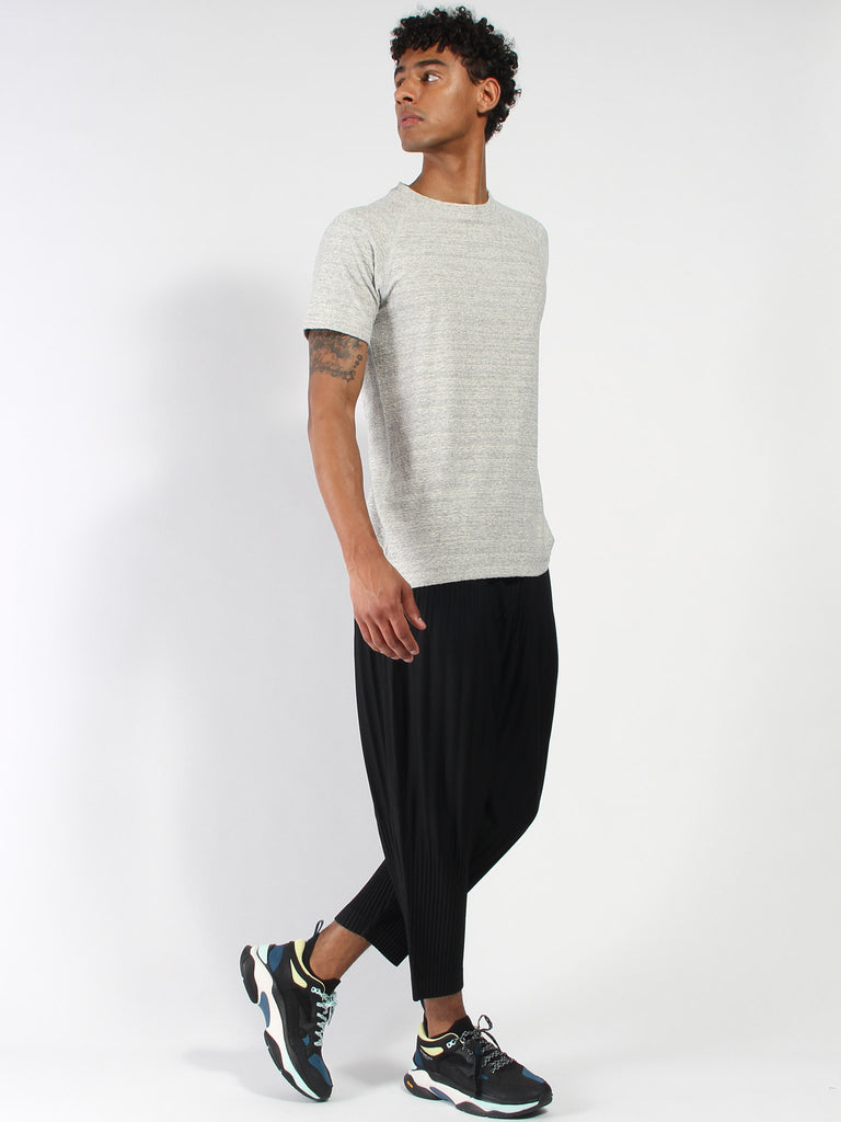 Loop Knit Short Sleeve - Static Grey by Wings and Horns