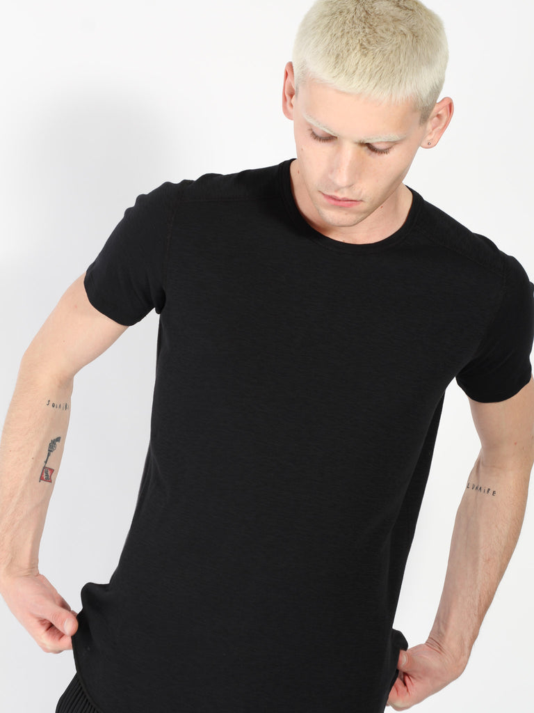 1x1 Slub Short Sleeve Crewneck - Black by Wings and Horns