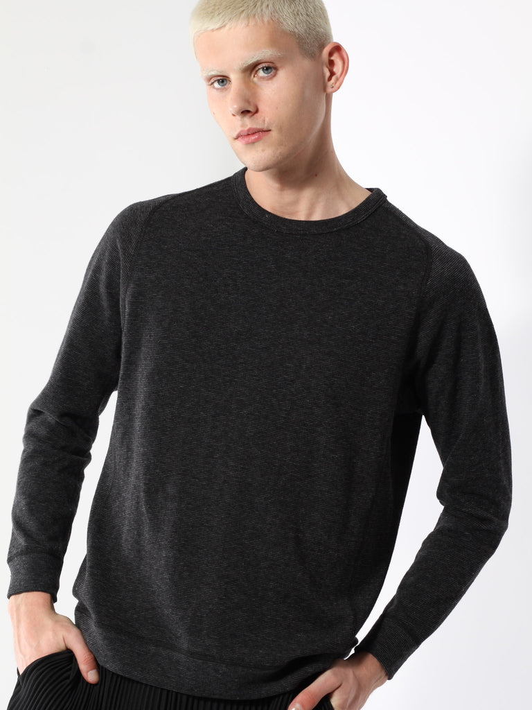 Mixed Pile Reversible Crewneck by Wings and Horns