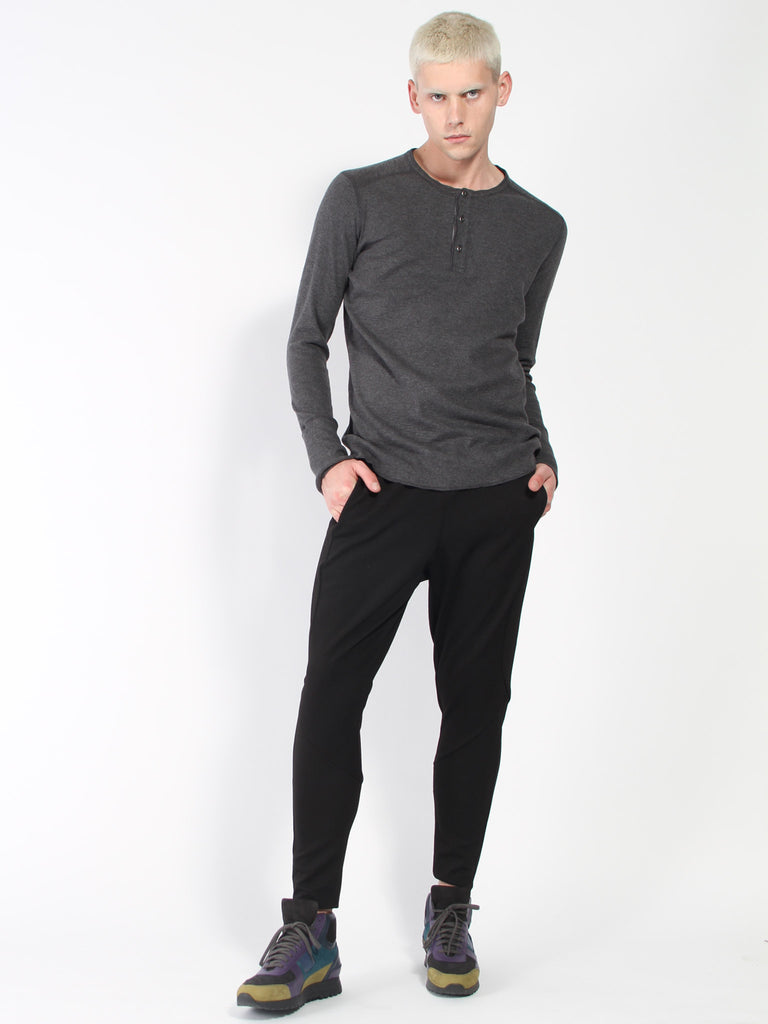 1x1 Slub Long Sleeve Henley by Wings and Horns