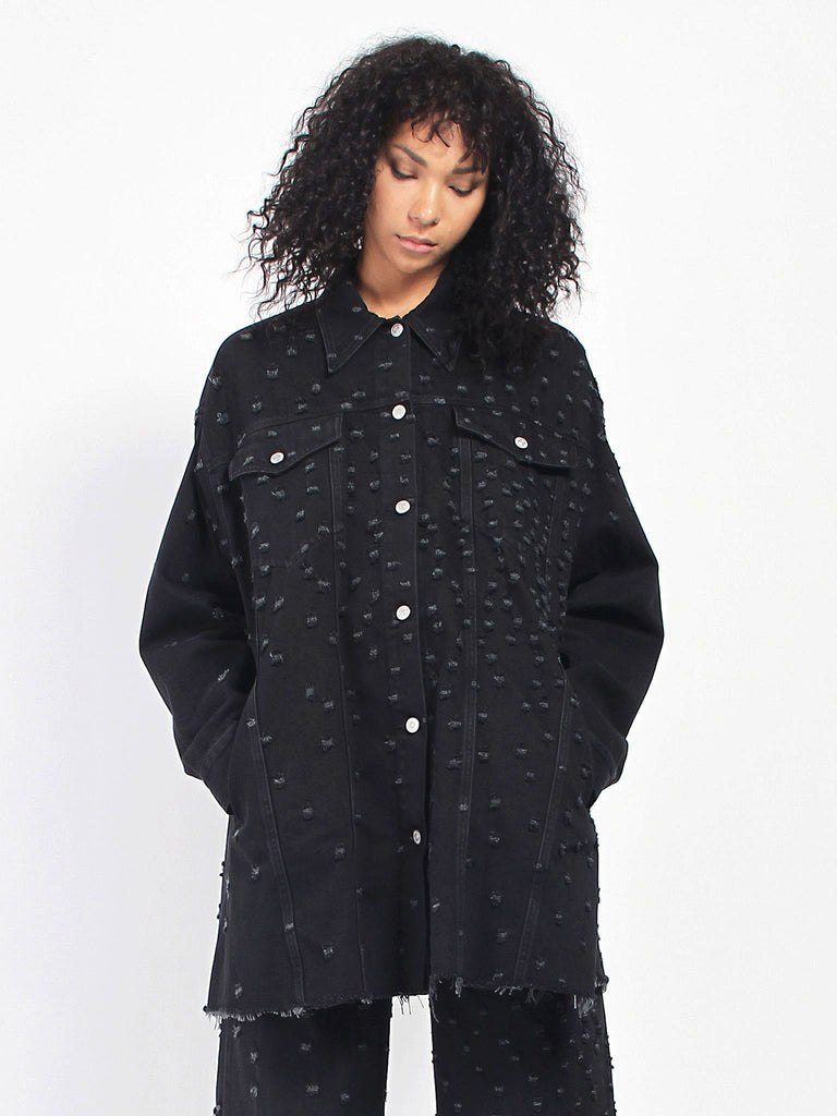 Distress Oversize Jacket by MM6 Maison Margiela