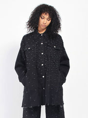 Distress Oversize Jacket