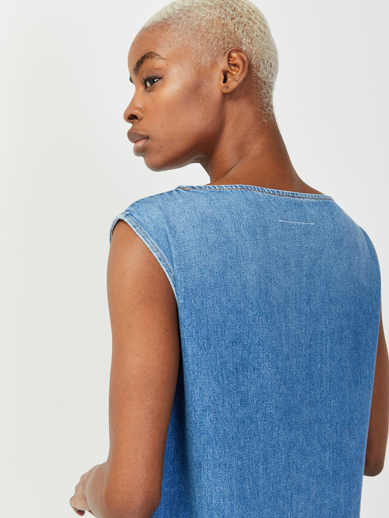 Tiered Denim Dress by MM6 Maison Margiela