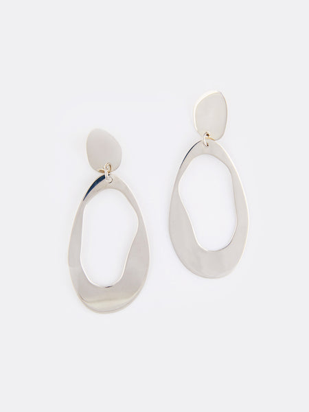 Large Oval Loop Earrings by Modern Weaving