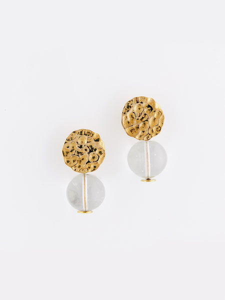 Mini Textured Global Earrings by Modern Weaving