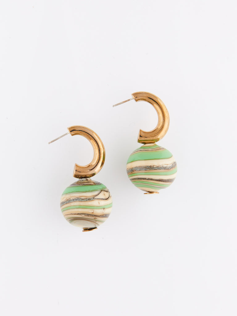 C-Curve Hoops - Pea Green Swirl by Modern Weaving