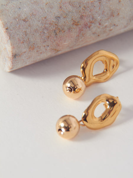 Petite Bead Drop Earrings - Bronze by Modern Weaving