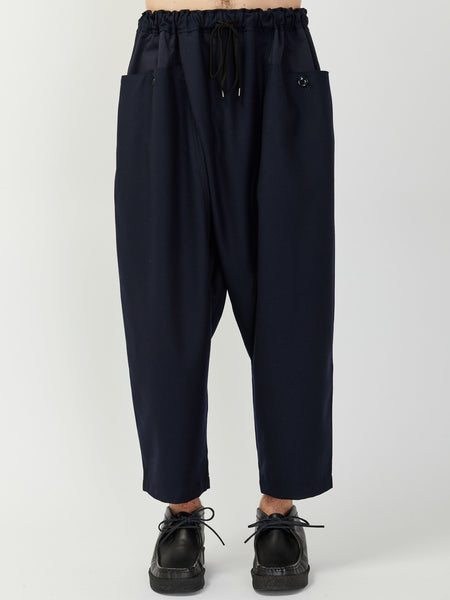 Drop-Rise Wrapped Trouser by Monitaly