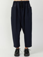 Drop-Rise Wrapped Trouser