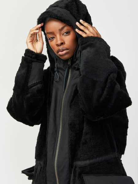 Kodiac Fur Coat - Black by Monitaly