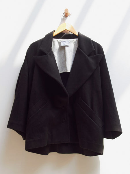 Round Sleeve Jacket - Black by Nancy Stella Soto