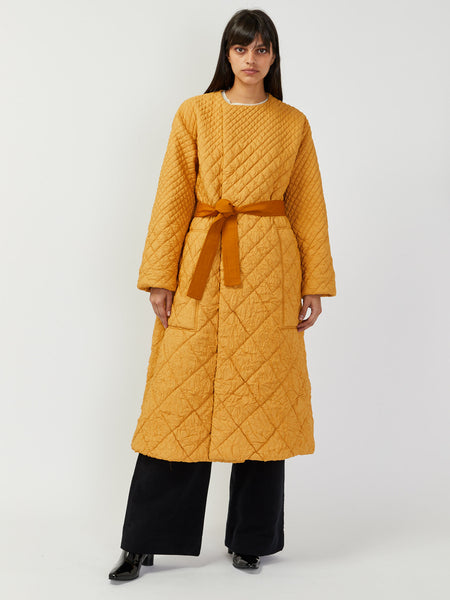 Clecy Wrinkled Quilted Coat by Nehera