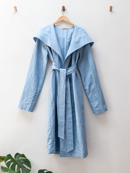 Corbara Hooded Jacket - Baby Blue by Nehera