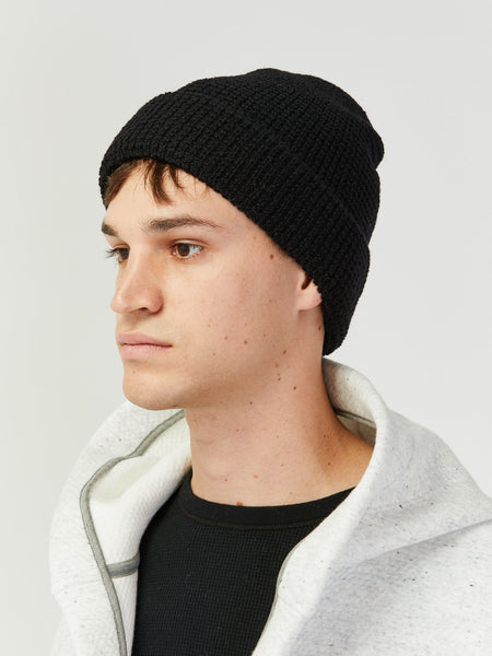 Waffle Beanie - Black by paa