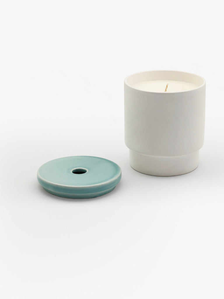 Pale Blue Candle by Night Space