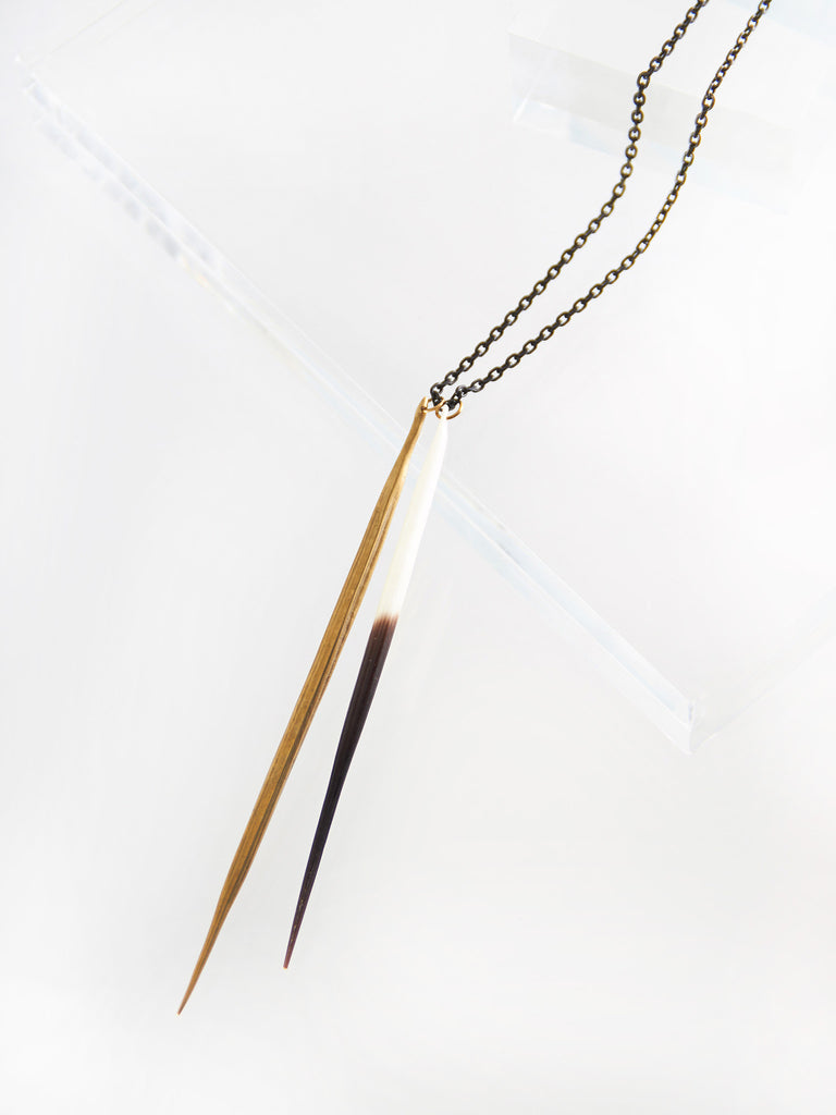 Double Quill Necklace by K/LLER