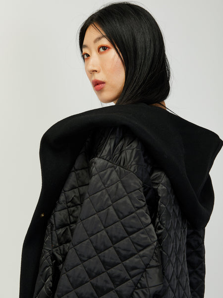 Big Xiong Coat - Black Quilted by Reality Studio
