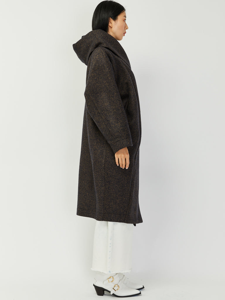 Big Xiong Coat - Navy Melange by Reality Studio