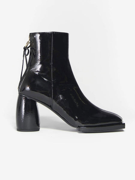 Square Ribbon Half Boots - Black by Reike Nen