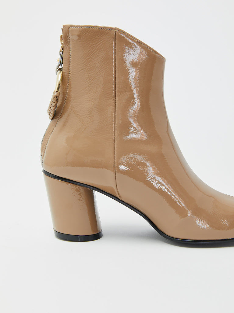 Oblique Turnover Ring Boot - Beige by Reike Nen