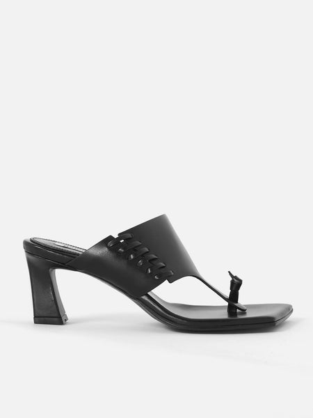 Stitch Flip Flop Heels - Black by Reike Nen