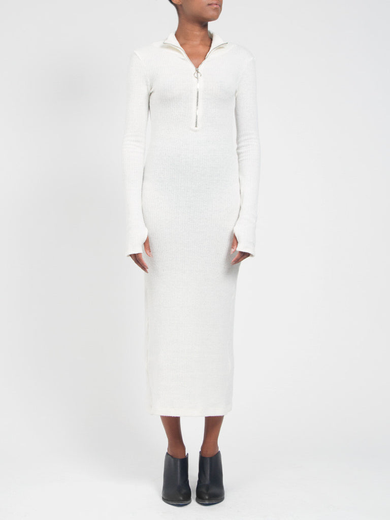 Rib Maxidress White by Assembly New York