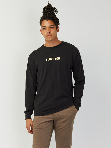 Moon Long Sleeve Tee - Black by Robert Geller