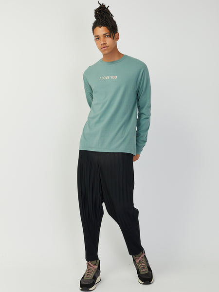 Moon Long Sleeve Tee - Light Green by Robert Geller