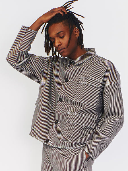 Striped Three Pocket Jacket by Robert Geller