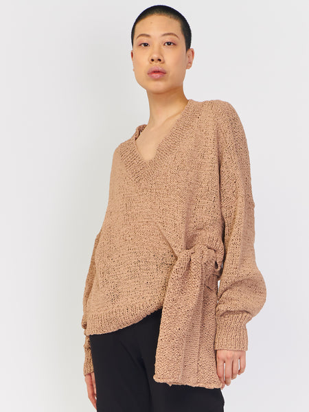 Anisah Sweater - Faded Terracotta by Rodebjer