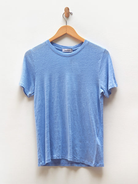 Ninja Linen Tee - Cloud Blue by Rodebjer