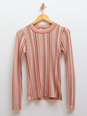 Vala Stripe Top - Faded Terracotta