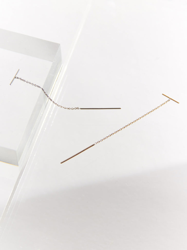 Line Chain Earring by Sarah and Sebastian