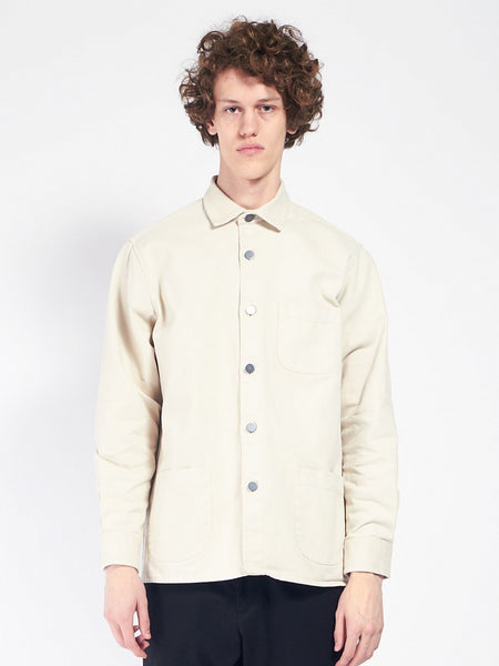Overshirt Twill One Cream by Schnaydermans