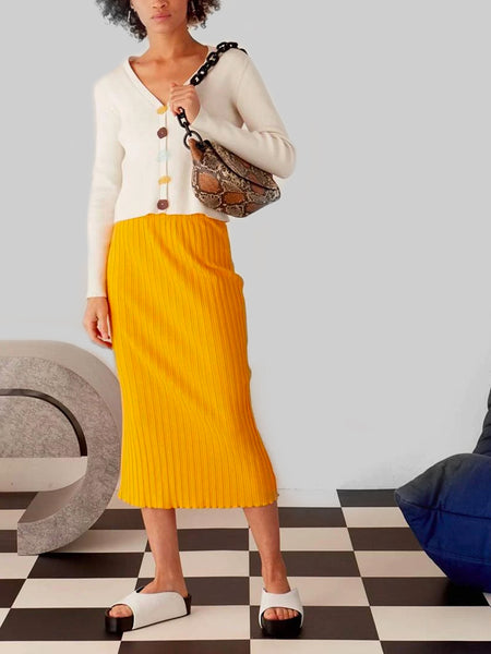 Mayer Skirt - Sunset Orange by Simon Miller