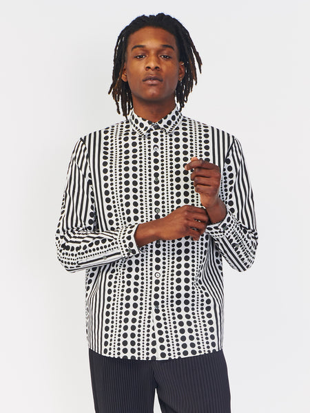 Dotted Long Sleeve Shirt by Robert Geller
