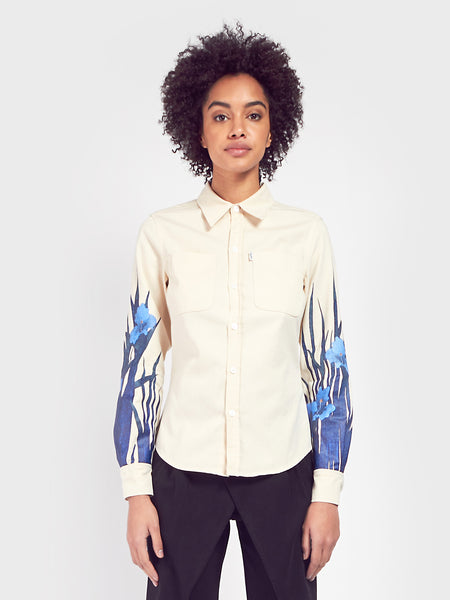 Adam Selman - Work Shirt - Printed Denim by Adam Selman