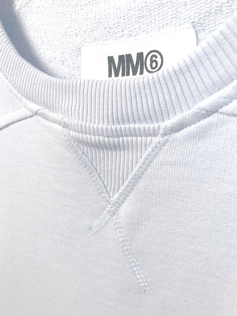 Basic Sweatshirt - Powder Blue by MM6 Maison Margiela
