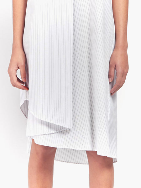 Sleeveless Dress - White Stripe by MM6 Maison Margiela
