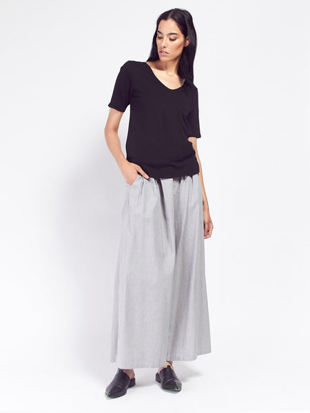 Building Block V Tee - Black by Kowtow